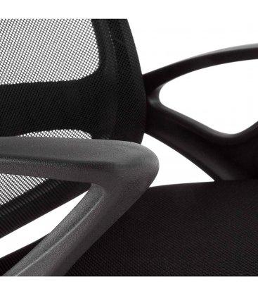 Silla de escritorio con ruedas regulable en altura negro LEVO