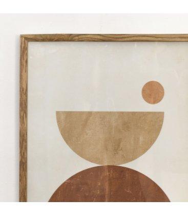 Cuadro abstracto blanco, marrón y beige 50x70 cm SPOTn01