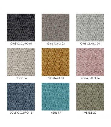 Sillón tapizado con estructura de madera maciza roble BERGEN (varios colores)