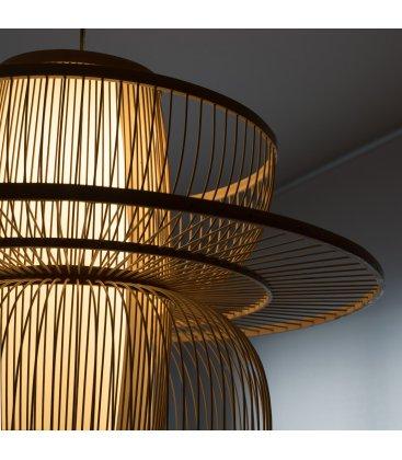 Lámpara de techo escultórica de bambú ORBIT
