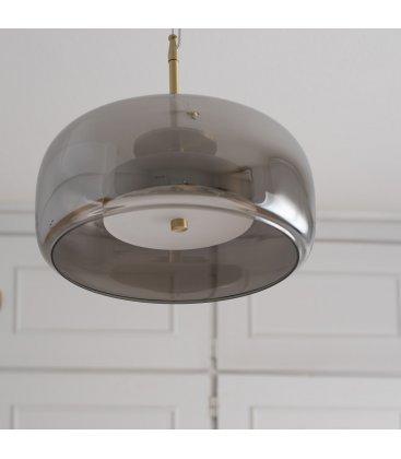 Lámpara de techo vidrio y dorado GLOVE