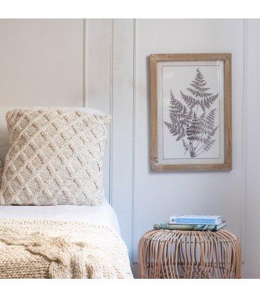 Cuadro lámina botánica blanco y negro 35x50 cm LEAVESn04
