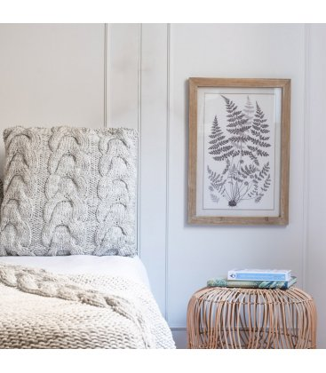 Cuadro lámina botánica blanco y negro 35x50 cm LEAVESn03