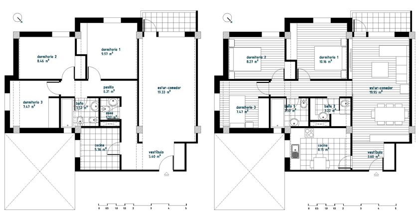 Interiorismo low cost plano del estado actual y propuesta for Plano de distribucion de una casa