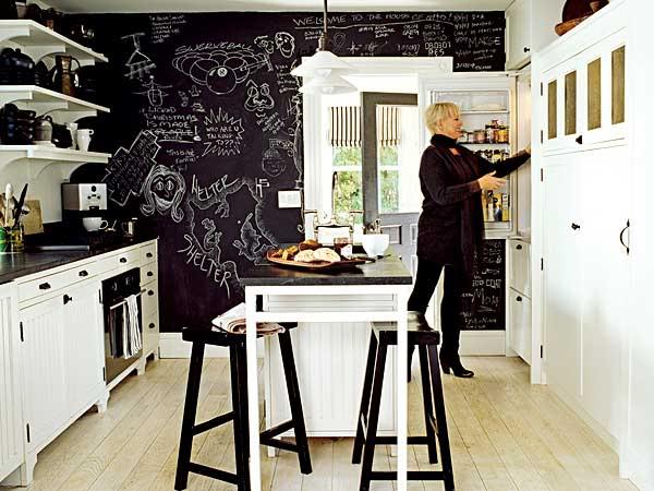 reformas de diseño interiorismo pizarra pared cocina decoración madrid barato low cost decorar pared pizarra interioristas decoradores