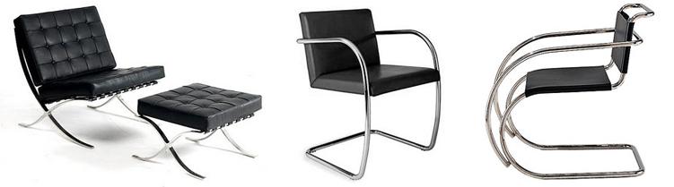 Especial 126 aniversario del nacimiento de mies van der rohe las sillas del arquitecto r de - Silla barcelona mies van der rohe ...