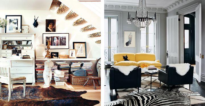 Trucos e ideas para decorar con una alfombra animal print - Alfombras de cebra ...