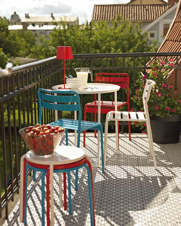 RDD terraza de inspiración vintage francés estilo interiorismo madrid