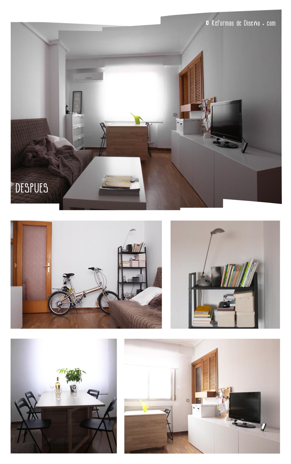 HOME STAGING MADRID CHAMBERI despues BARATO ECONOMICO IKEA AMUEBLAMIENTO