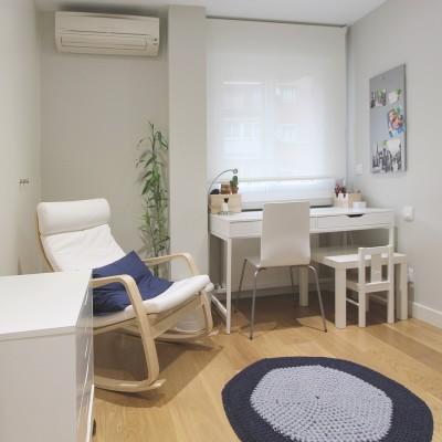 El cuarto de trabajo dispone de todo lo necesario para transformarse en un tercer dormitorio en el futuro, en caso necesario.