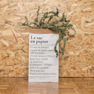R DE ROOM SHOP le sac en papier / The paper bag papel 100% reciclado