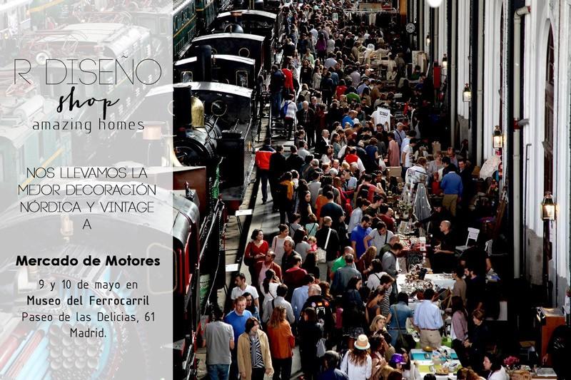 R de Room Shop en Mercado de Motores. Decoración nórdica y vintage en el corazón de Madrid.