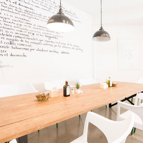 R DE ROOM MADRID proyecto de interiorismo y decoración para cafetería bar C.O.M.E.