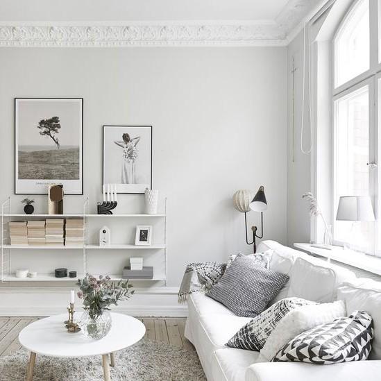Copia el estilo sal n de estilo escandinavo - Interiorismo nordico ...