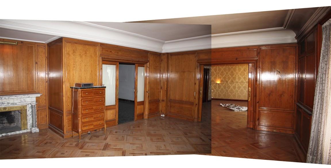 Reformas lacado en blanco de paredes paneladas de madera r de room interiorismo y decoraci n - Panelado de paredes ...