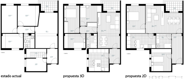 Proyecto low cost de redistribuci n de un piso en avda de - Amueblar piso low cost ...