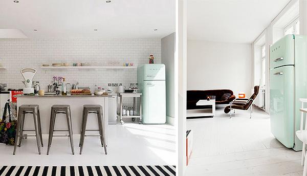 Mueble del d a la nevera smeg r de room interiorismo y decoraci n madrid tienda online de - Cucine con frigo smeg ...