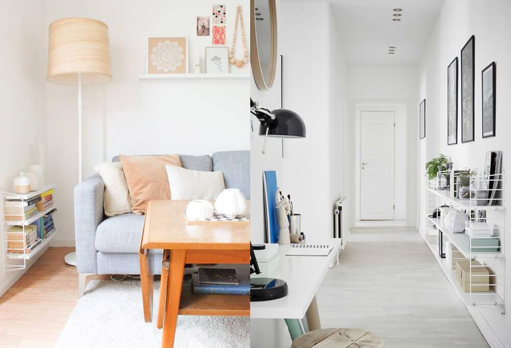 R-DISENO-INTERIORISMO-trucos-casas-pequenas-estanteria-pasillo-junto-sofa
