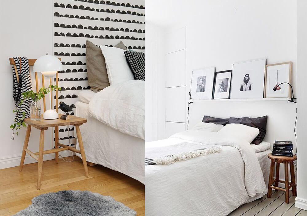 R-DISENO-INTERIORISMO-trucos-casas-pequenas-silla-como-mesita-de-noche-lampara-pared