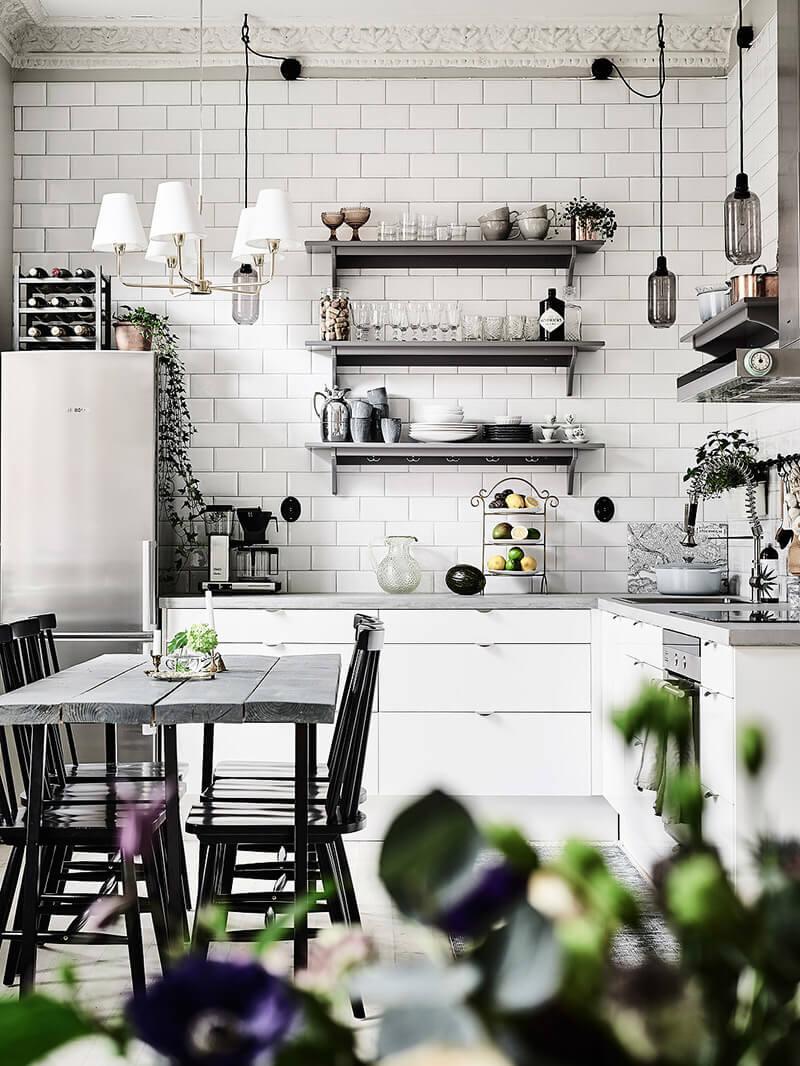 R de Room Blog: Pequeño apartamento de 2 dormitorios de estilo escandinavo.