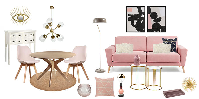 Ambiente interiorismo rosa millennial by R de Room