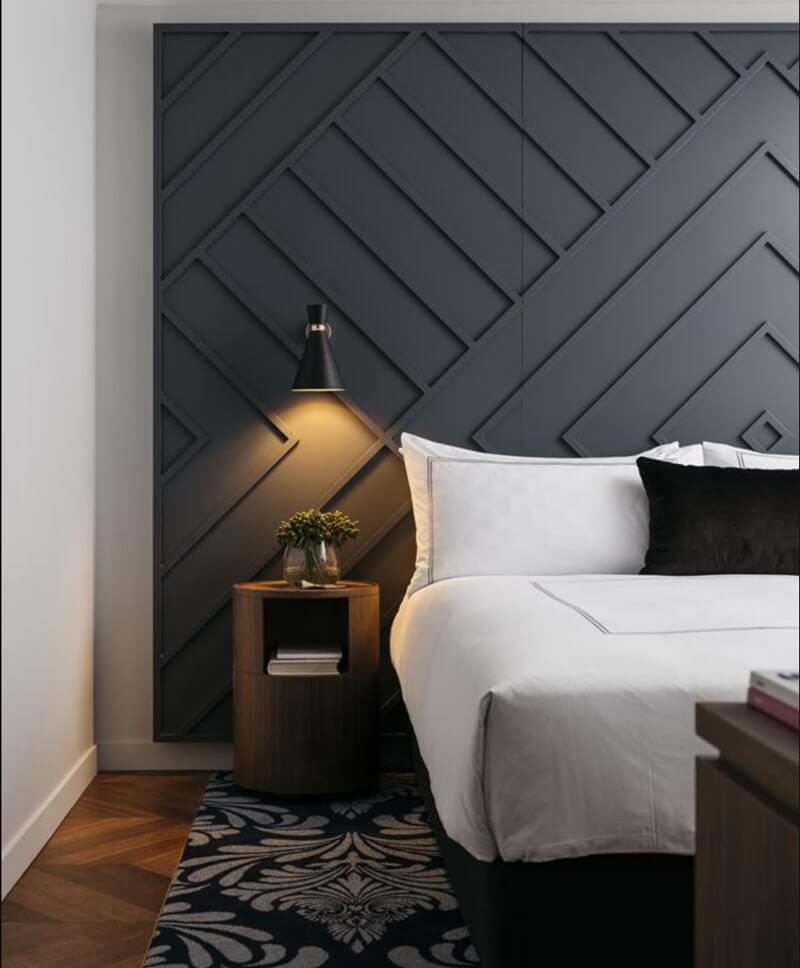 Decorar paredes sin cuadros - molduras