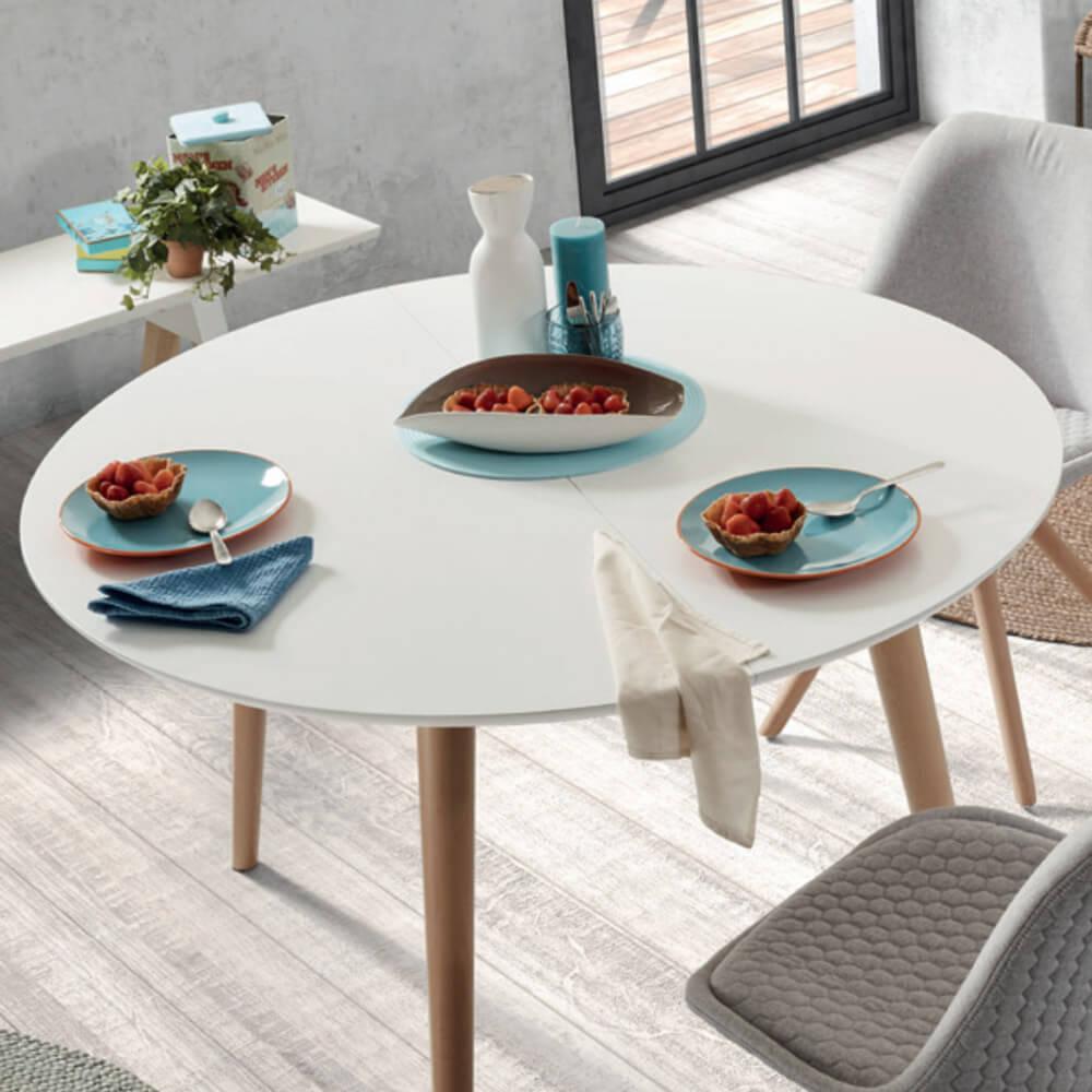 ¿Cómo elegir bien una mesa de comedor? Modelo circular extensible HILLS.