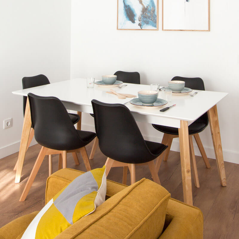 ¿Cómo elegir bien una mesa de comedor? Modelo rectangular extensible MOI.