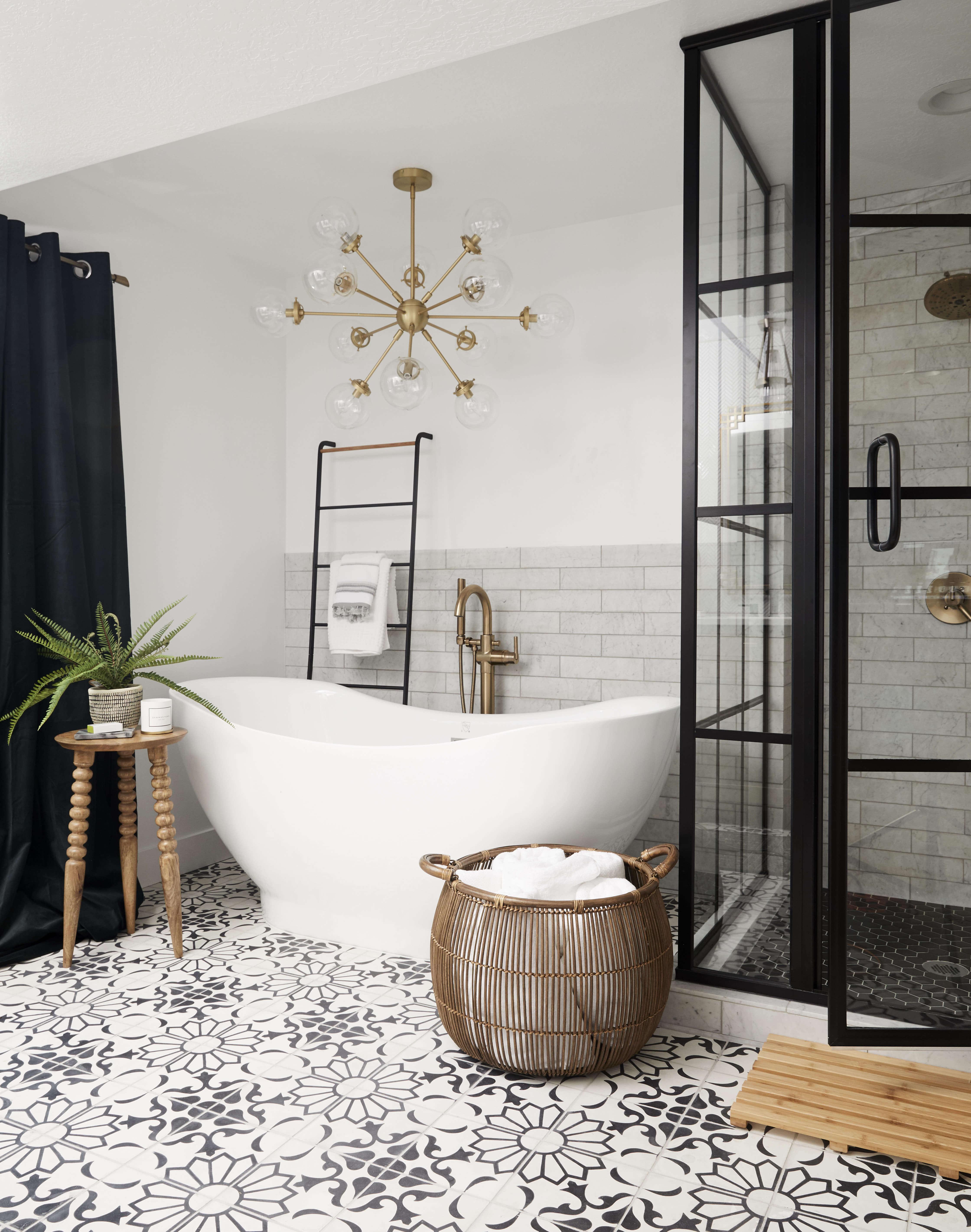 Tendencias en baños en 2019. Baños open concept integrados en las habitaciones.