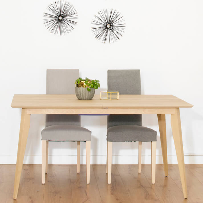 ¿Cómo elegir bien una mesa de comedor? Modelo rectangular extensible Norway Square.