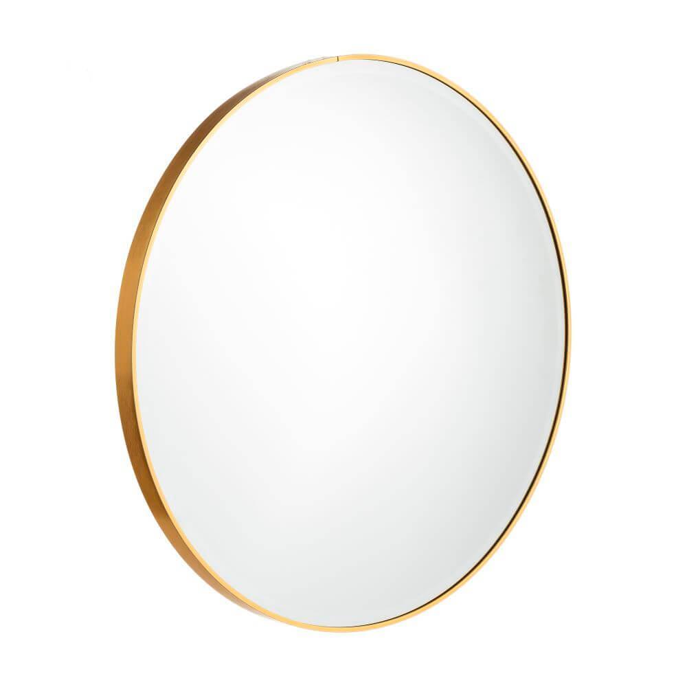 R DE ROOM espejo redondo dorado. Espejo circular con marco de latón dorado. Varios diámetros.
