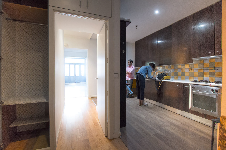 Proyecto de reforma en Chamberí (Madrid). Estado previo de la cocina.