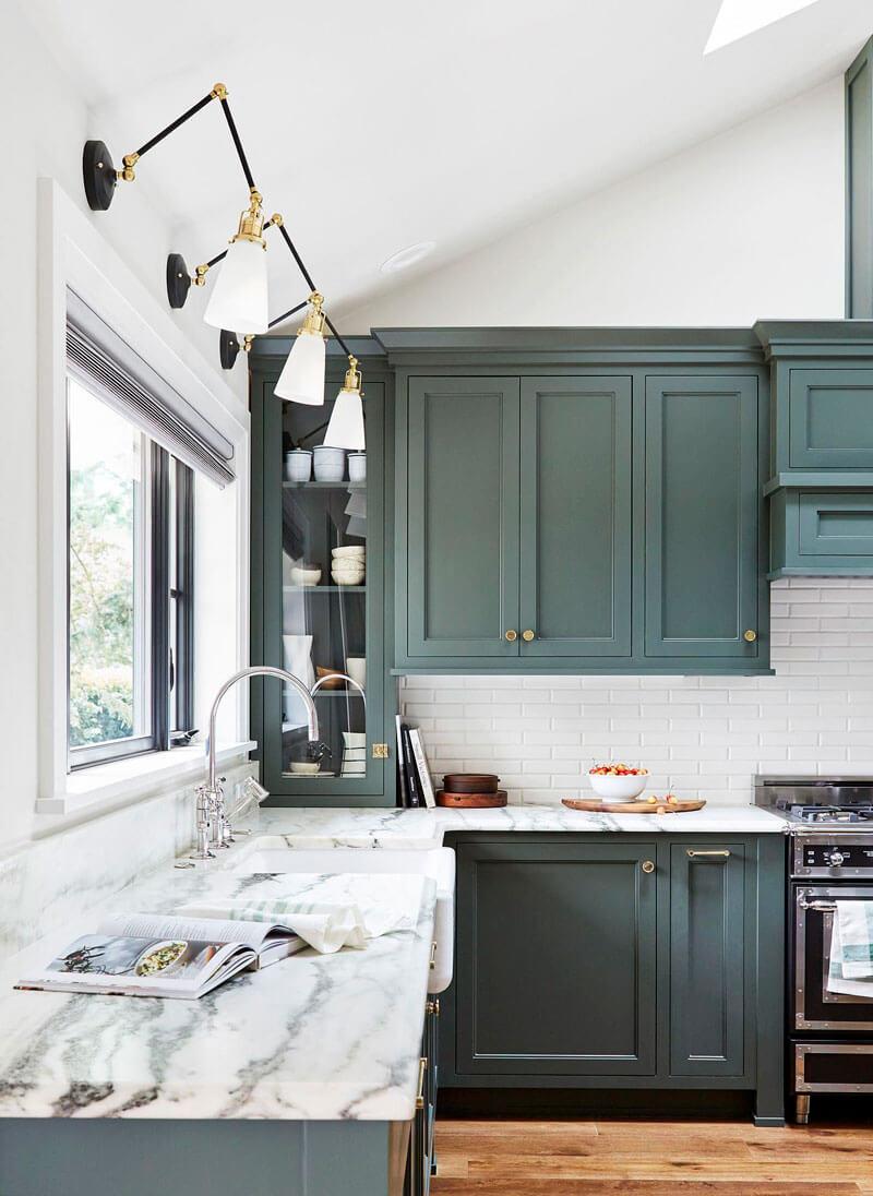 Cocinas de colores de los que no te cansarás; verde