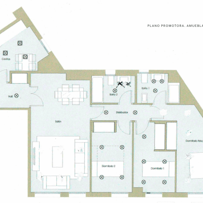 Proyecto de interiorismo integral de una vivienda de obra nueva en Embajadores (Madrid)