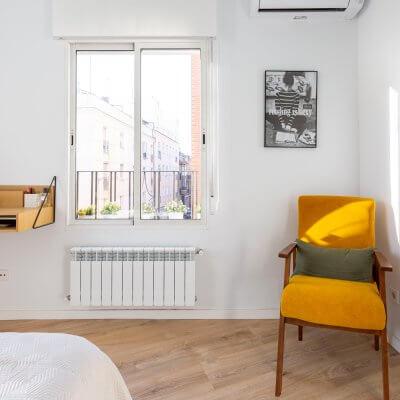 Dormitorio principal. Rincón de lectura. Proyecto de R de Room.