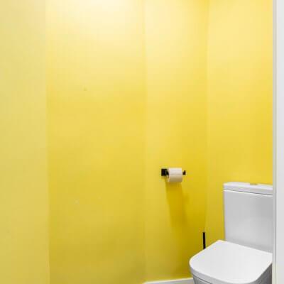 Baño amarillo. Proyecto de R de Room.