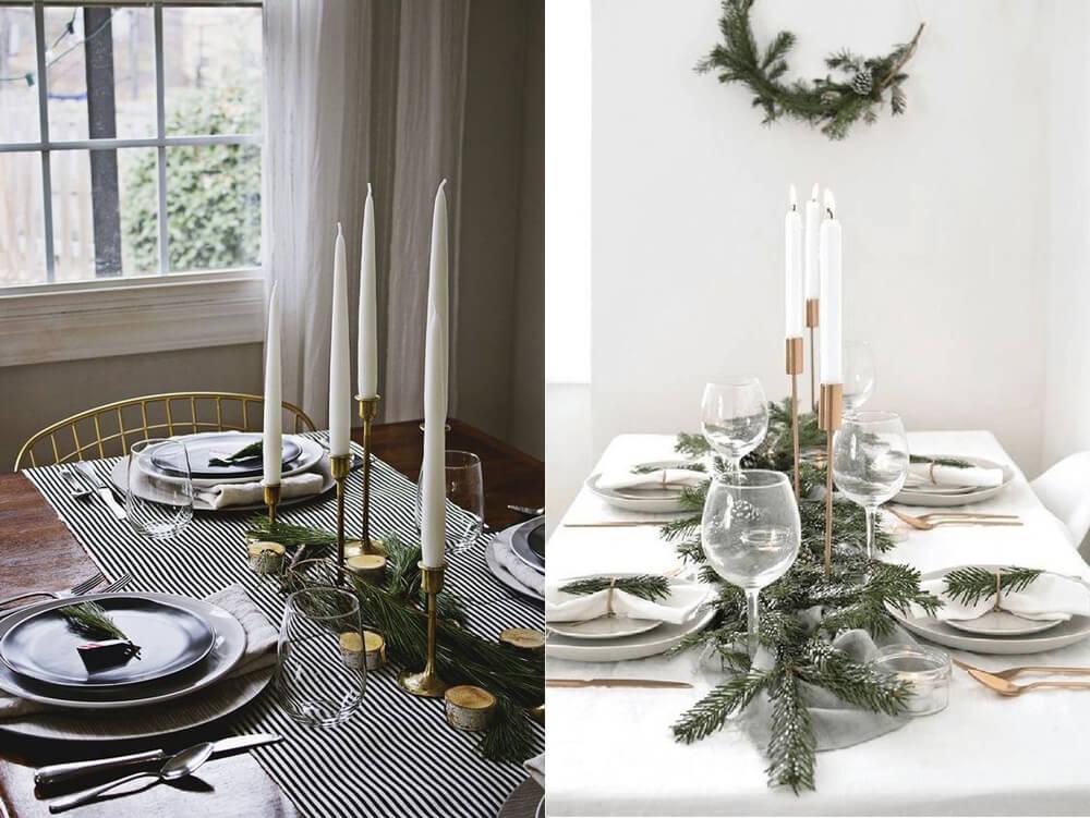 """Ideas para decorar una mesa de Navidad de estilo moderno y toque """"scandi"""""""