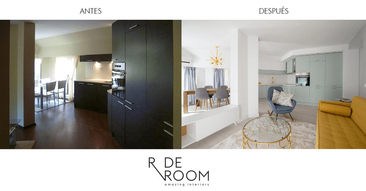 Antes y después vivienda Sofía. Proyecto de R de Room.