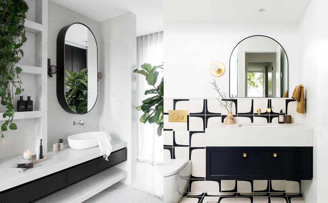 9 tendencias para baños en 2021: blanco y negro.
