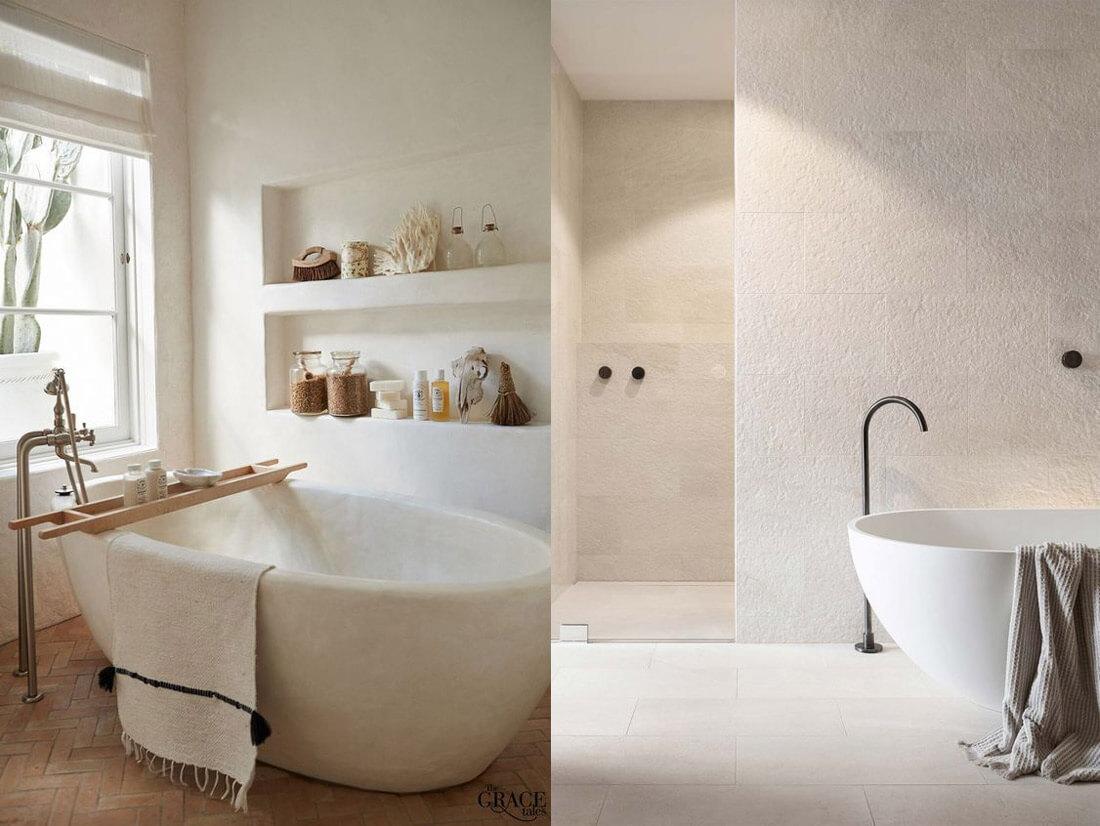 9 tendencias para baños en 2021: colores naturales.