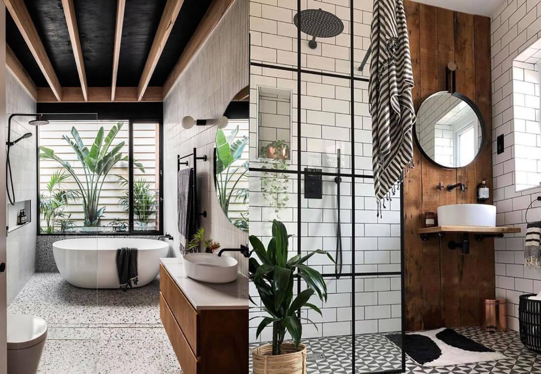 9 tendencias para baños en 2021: más madera.